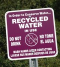 Cities provide residents with reclaimed water
